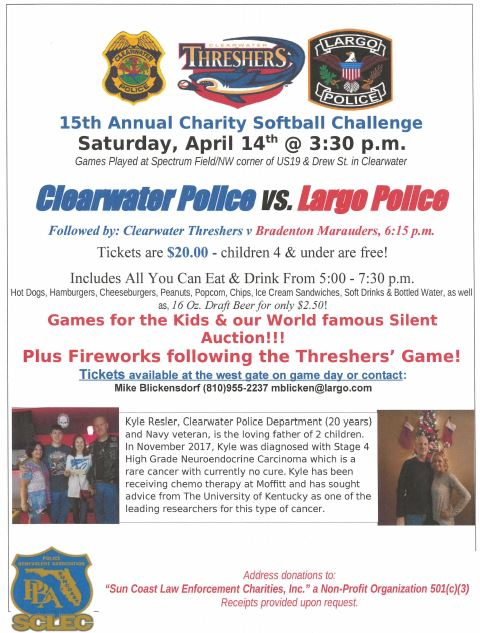 15th Annual Charity Softball Challenge April 14, 2018