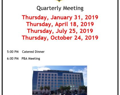 2019 PBA Quarterly Meetings